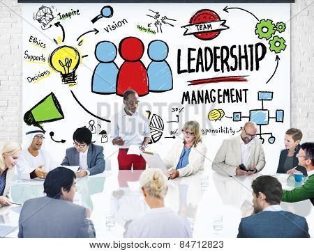 Diversity Business People Leadership Management Meeting Discussion Concept