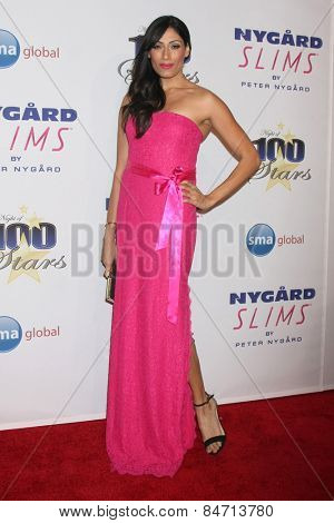 LOS ANGELES - FEB 22:  Tehmina Sunny at the Night of 100 Stars Oscar Viewing Party at the Beverly Hilton Hotel on February 22, 2015 in Beverly Hills, CA