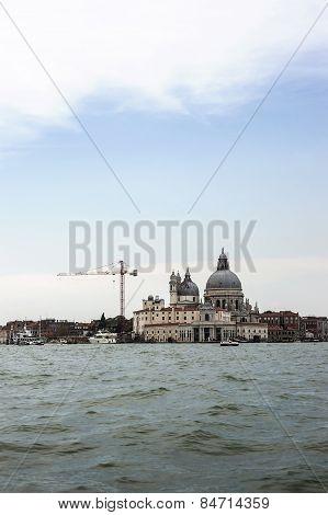 Santa Maria Della Salute Basilica In Summer Venice