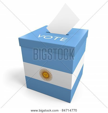 Argentina election ballot box for collecting votes