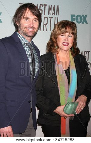 LOS ANGELES - FEB 24:  Will Forte, Patricia C. Forte at the