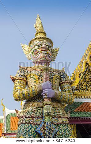 Bangkok, Thailand - Royal Palace and Wat Phra Kaeo Complex - statue