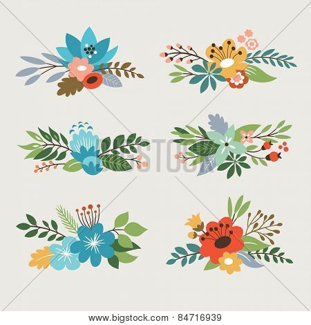 floral vector collection