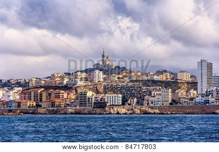 View Of The Notre-dame De La Garde In Marseille - France