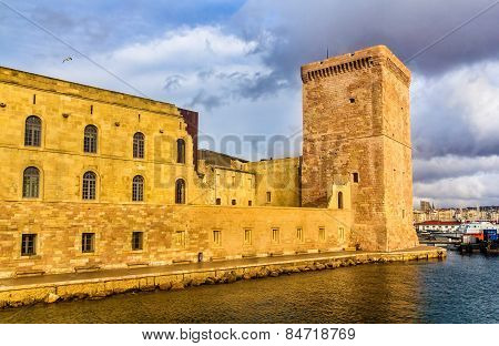 Fort Saint-jean In Marseille, Provence, France