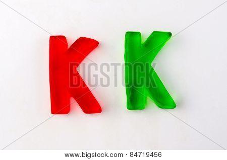 Gummy Letters K