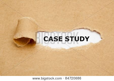 Case Study Torn Paper Concept