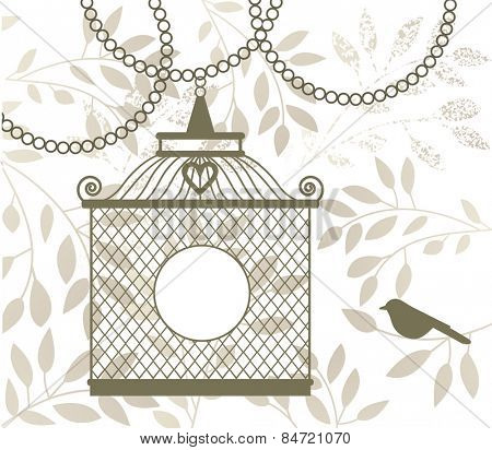 Birdcage on a chain