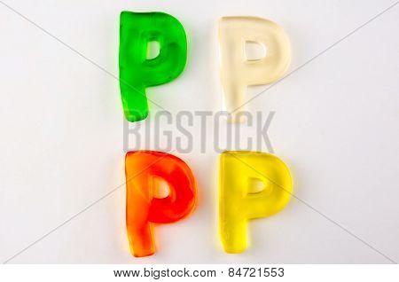 Gummy Letters P