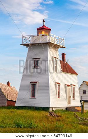 Lighthouse in the village of North Rustico, Prince Edward Island.