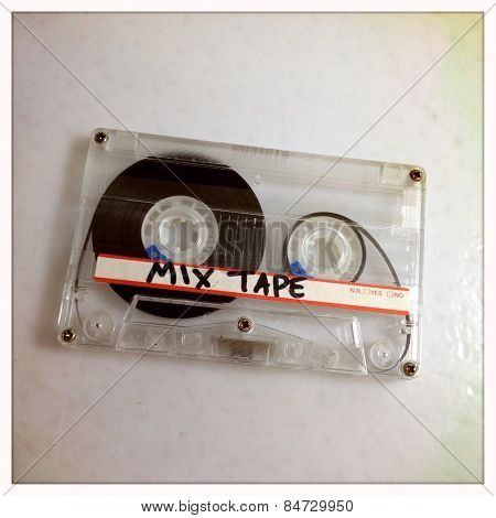 Instagram filtered image of a mix tape cassette