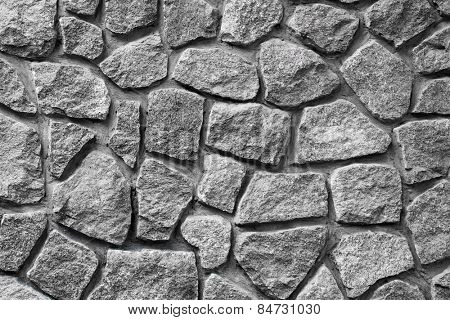 Grey granite wall background.