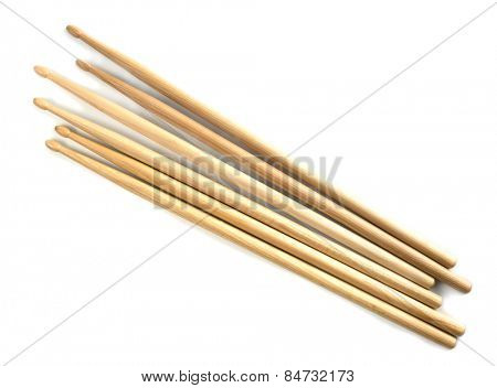 Drumsticks isolated on white.