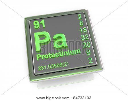 Protactinium. Chemical element. 3d
