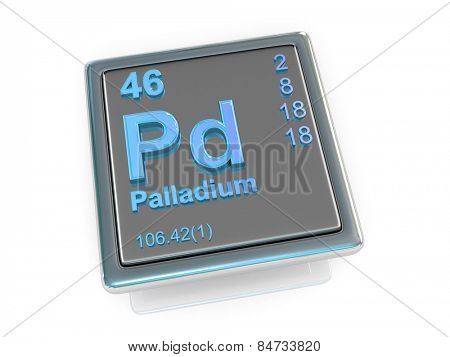 Palladium. Chemical element. 3d