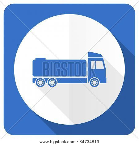 truck blue flat icon cargo sign