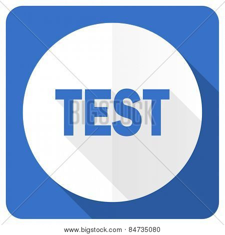 test blue flat icon