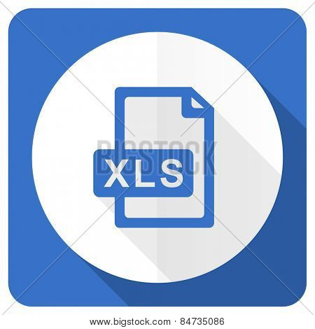 xls file blue flat icon