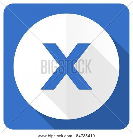 cancel blue flat icon