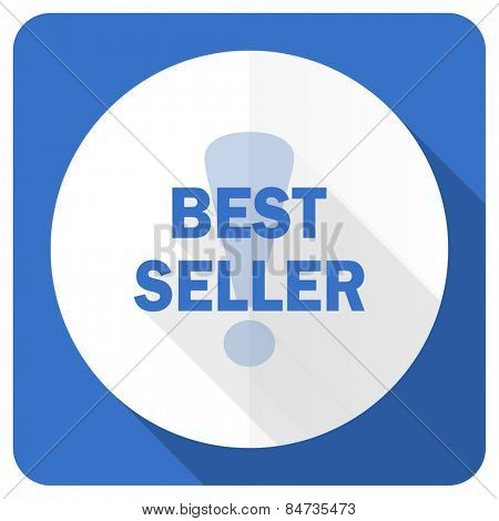 best seller blue flat icon