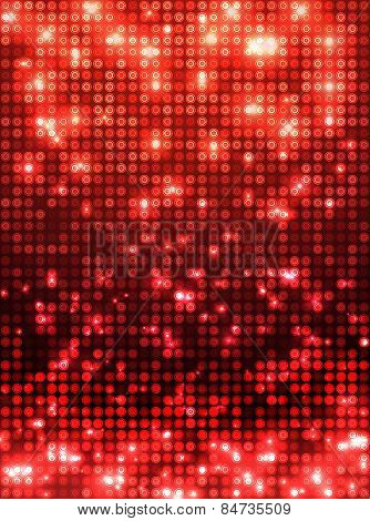 Red disco mosaic background