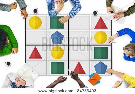 Sudoku Puzzle Problem Solving Leisure Games Concept