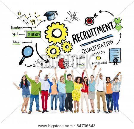Ethnicity People Recruitment Goal Cheerful Celebration Concept