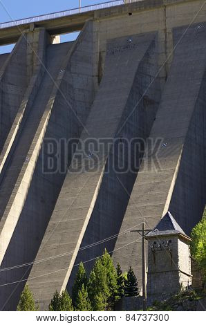 dam detail in Cavallers, Pyrenees,  Spain