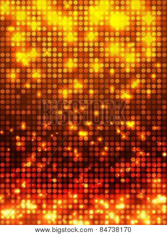 Orange disco mosaic background