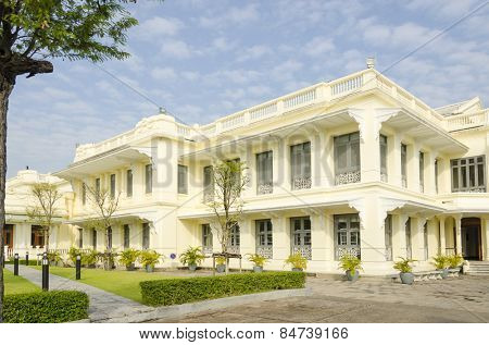 Bangkok, Thailand - Royal Palace and Wat Phra Kaeo Complex -  the main office (tourist service center)