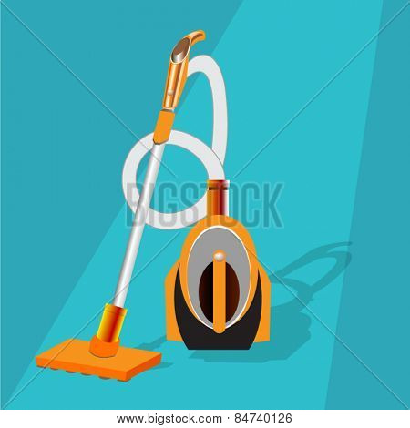 Vacuum Cleaner in flat design