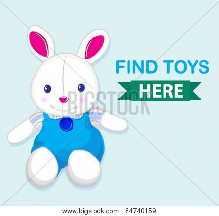 cute rabbit toy banner