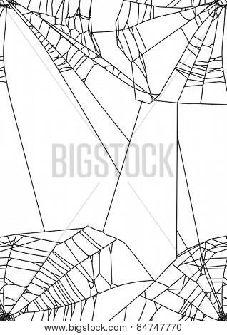 illustration with spider web isolated on white background