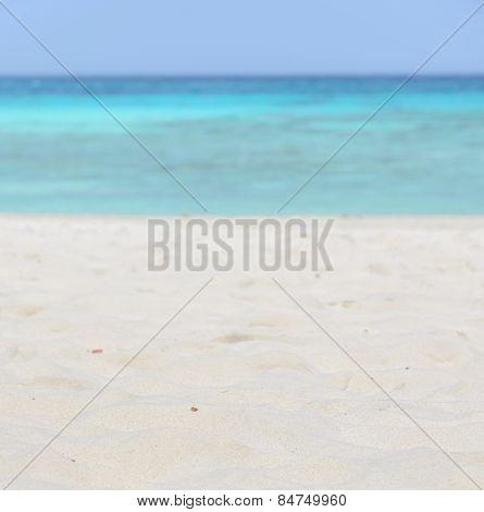 White Sand Beach And Sea Background