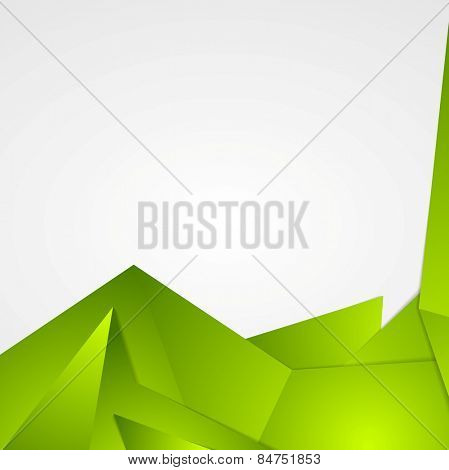 Bright green abstract flyer design. Vector background