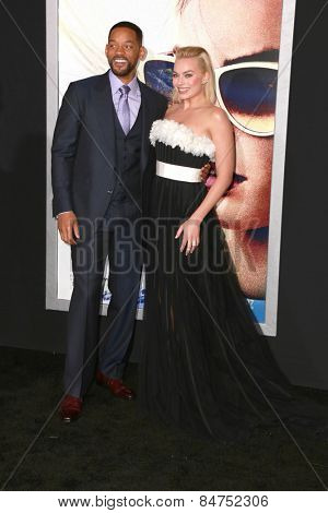 LOS ANGELES - FEB 24:  Margot Robbie, Will Smith at the