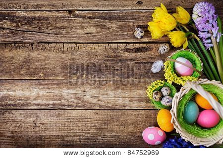 Baskets With Colored Eggs