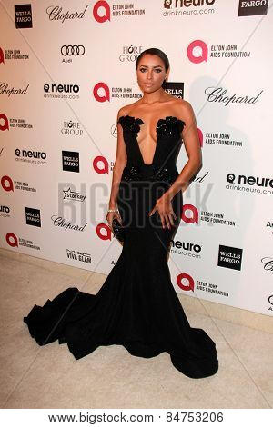 LOS ANGELES - FEB 22:  Kat Graham at the Elton John Oscar Party 2015 at the City Of West Hollywood Park on February 22, 2015 in West Hollywood, CA