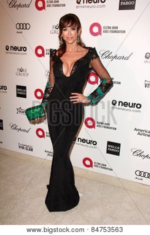 LOS ANGELES - FEB 22:  Sofia Milos at the Elton John Oscar Party 2015 at the City Of West Hollywood Park on February 22, 2015 in West Hollywood, CA