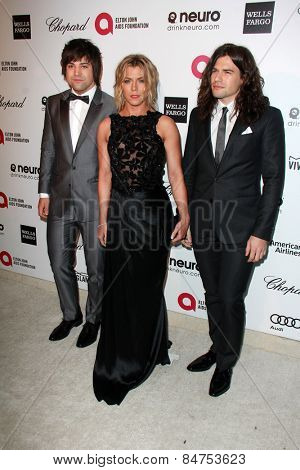 LOS ANGELES - FEB 22:  The Band Perry at the Elton John Oscar Party 2015 at the City Of West Hollywood Park on February 22, 2015 in West Hollywood, CA