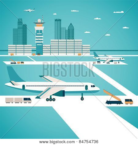 Vector Airport Concept