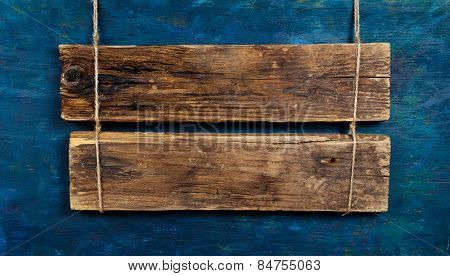 Blank Wooden Signboard
