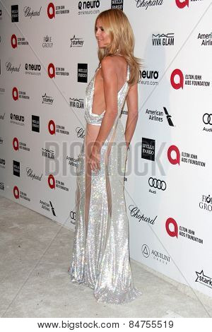 LOS ANGELES - FEB 22:  Heidi Klum at the Elton John Oscar Party 2015 at the City Of West Hollywood Park on February 22, 2015 in West Hollywood, CA