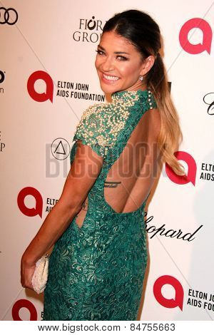 LOS ANGELES - FEB 22: jessica szhor at the Elton John Oscar Party 2015 at the City Of West Hollywood Park on February 22, 2015 in West Hollywood, CA
