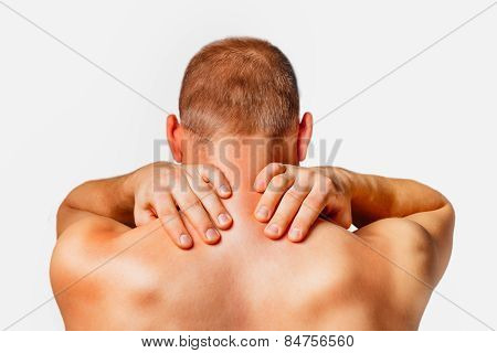 Pain in a male neck
