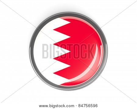 Round Button With Flag Of Bahrain