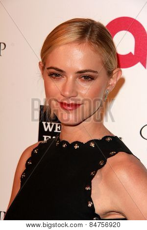 LOS ANGELES - FEB 22:  Emily Wickersham at the Elton John Oscar Party 2015 at the City Of West Hollywood Park on February 22, 2015 in West Hollywood, CA