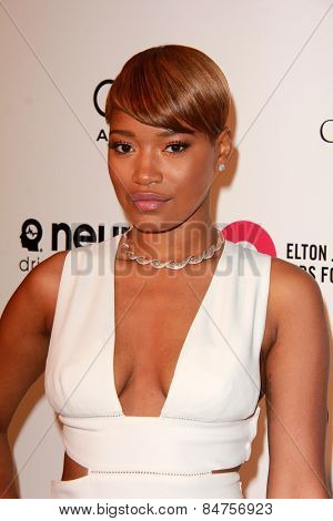 LOS ANGELES - FEB 22: keke palmer at the Elton John Oscar Party 2015 at the City Of West Hollywood Park on February 22, 2015 in West Hollywood, CA