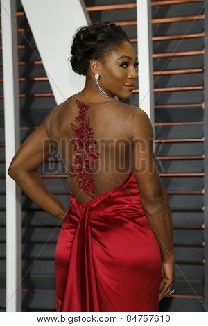 LOS ANGELES - FEB 22:  Serena Williams at the Vanity Fair Oscar Party 2015 at the Wallis Annenberg Center for the Performing Arts on February 22, 2015 in Beverly Hills, CA