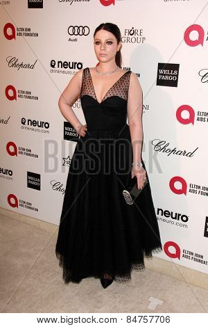 LOS ANGELES - FEB 22:  Michelle Trachtenberg at the Elton John Oscar Party 2015 at the City Of West Hollywood Park on February 22, 2015 in West Hollywood, CA